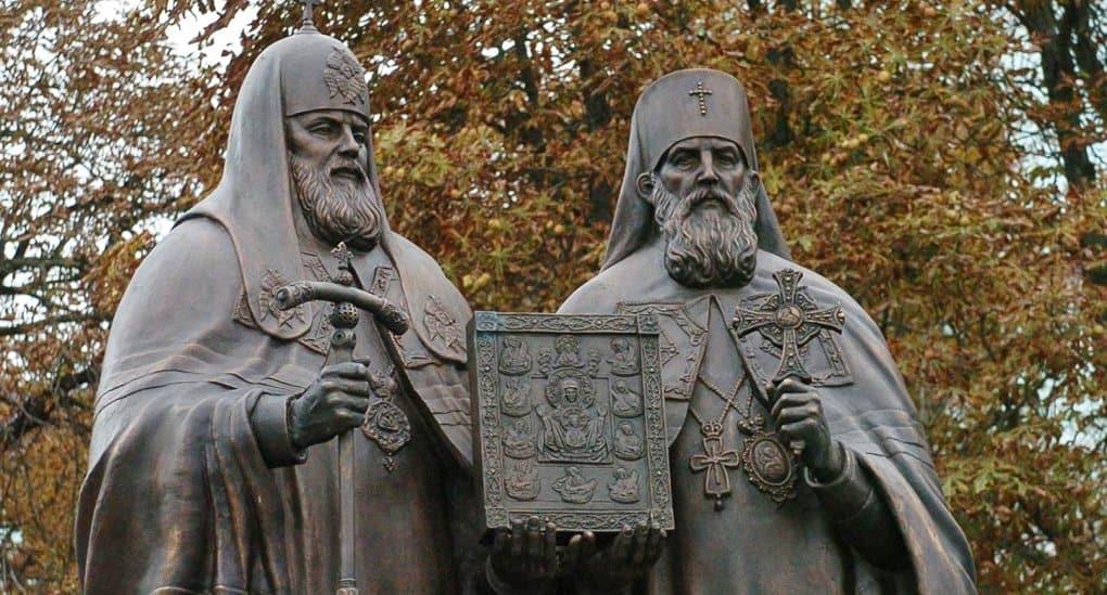 В Курске открыли памятник, посвященный воссоединению Русской Церкви