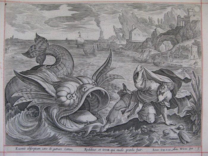 Пророк Иона и Кит. Антоний Виерикс. (1)