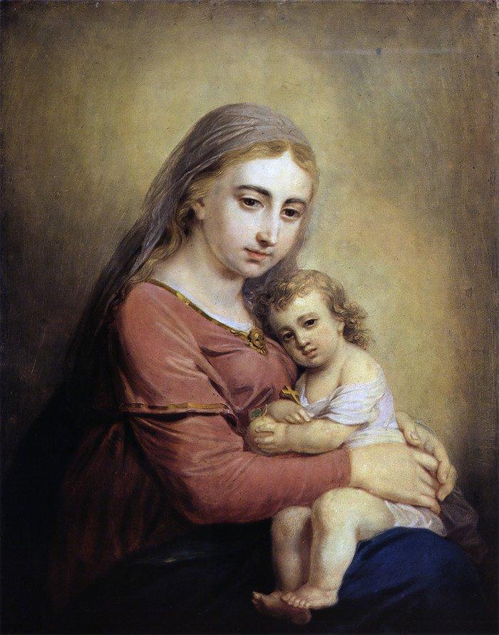Открытки ко дню матери: Боровиковский. Богоматерь с Младенцем