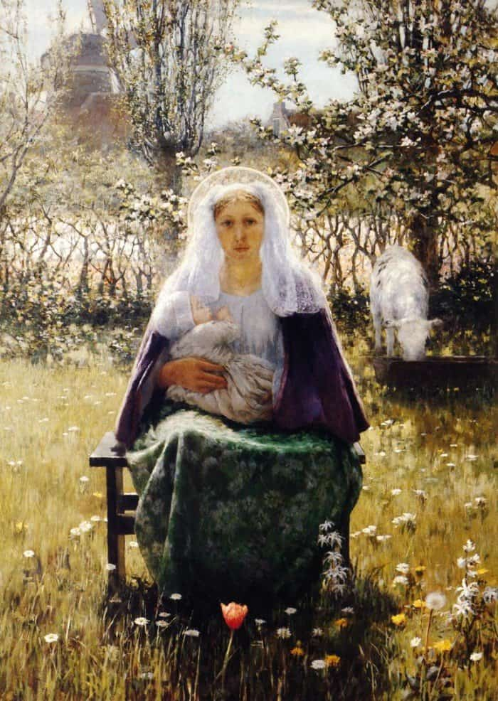 Открытки ко дню матери: George Hitchcock. Blessed Mother
