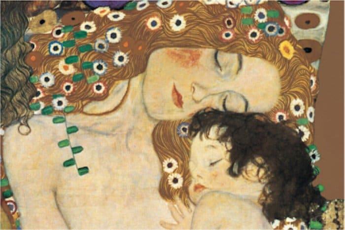 Открытки ко дню матери: Густав Климт. Мать и дитя