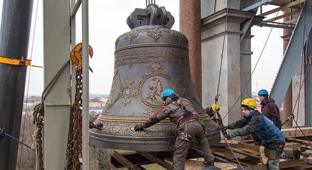 Колокол весом в 16 тонн установили на Исаакиевский собор