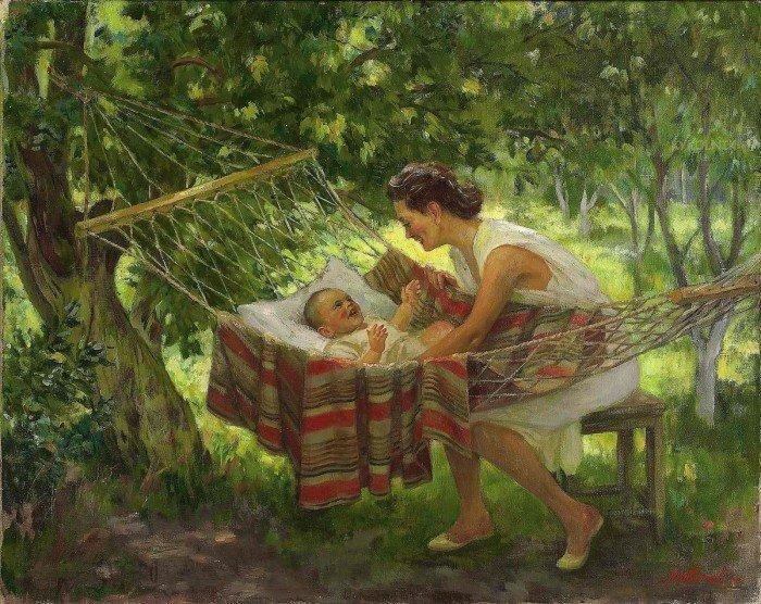 Открытки ко дню матери: Любимов Александр Михайлович (1879 -1955). Материнство.