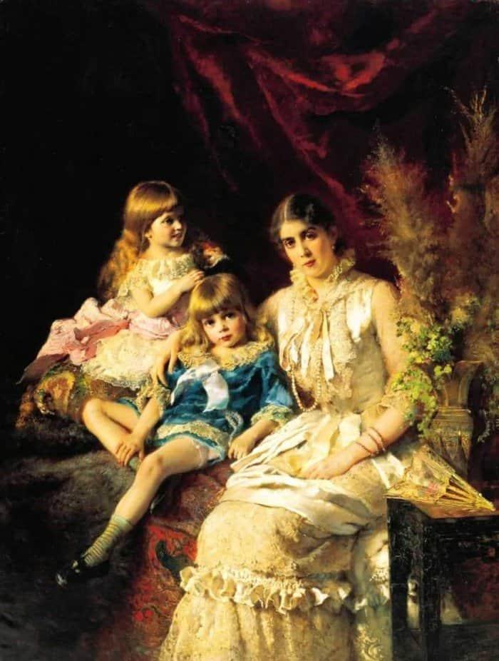 Открытки ко дню матери: Маковский К. Е. Семейный портрет