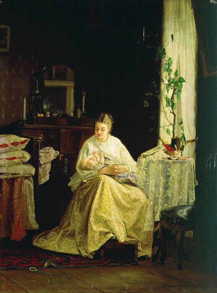 Открытки ко дню матери: Максимов В. М. Материнство