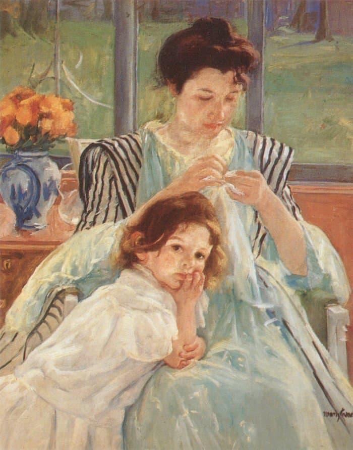 Открытки ко дню матери: Mary Cassatt