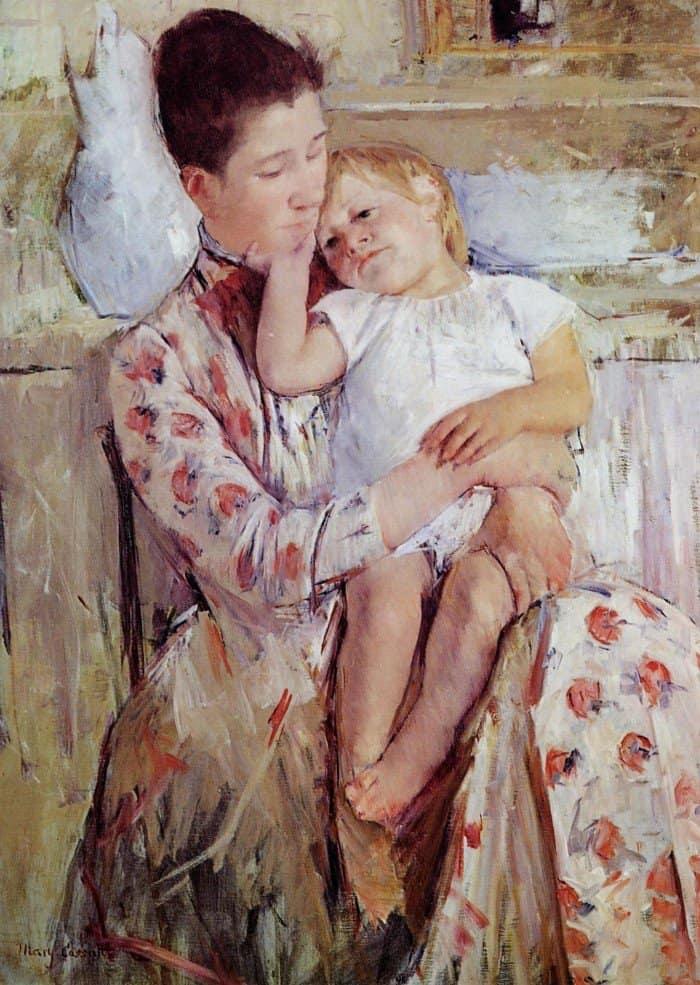Открытки ко дню матери: Мэри Кассат. Мать и дитя.