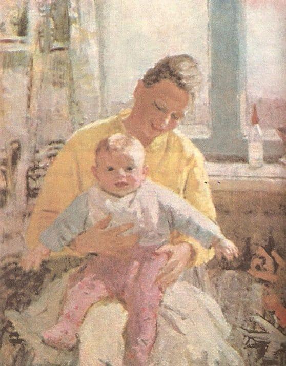 Открытки ко дню матери: Нечитайло В. К. Материнство