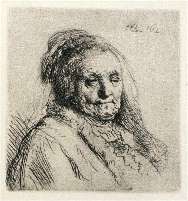 Открытки ко дню матери: Рембрандт Харменс ван Рейн. Портрет матери.