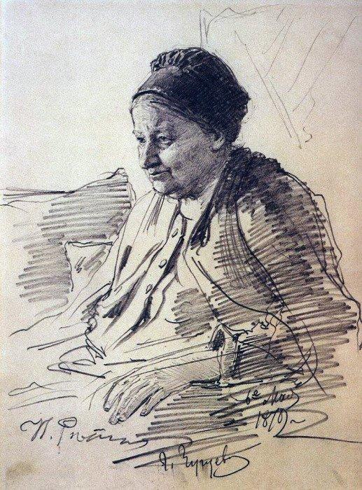 Открытки ко дню матери: Репин И. Е. Портрет Т. С. Репиной, матери художника