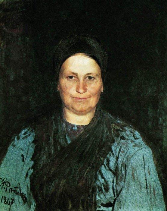 Открытки ко дню матери: Репин И. Е. Портрет матери художника Т. С. Репиной