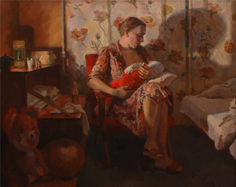 Открытки ко дню матери: Цагарев М. М. Материнство