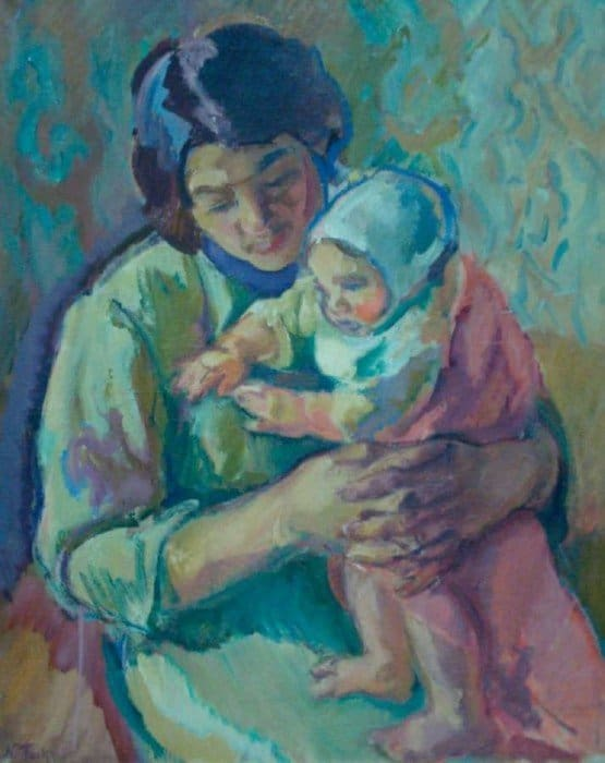 Открытки ко дню матери: Тархов Н.А. Материнство