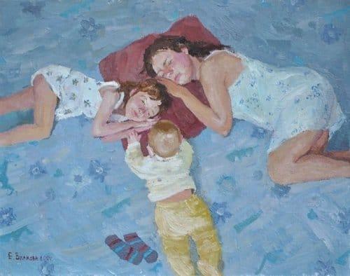 Открытки ко дню матери: Вилкова Е. В. Материнство