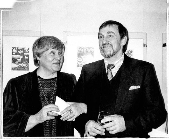 Супруги Диодоровы на вернисаже вБерлине. 1998