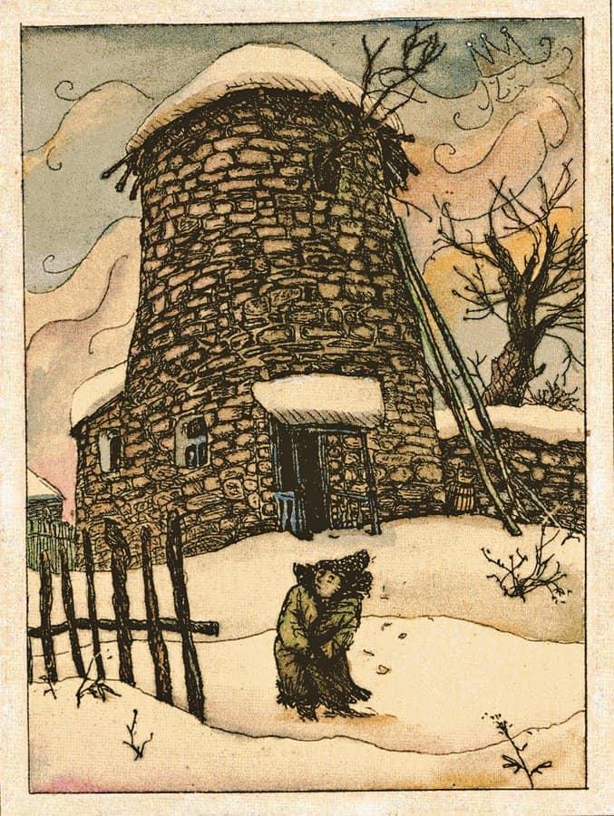 Иллюстрация ккниге Ф. Мора «Волшебная шубейка». 1976