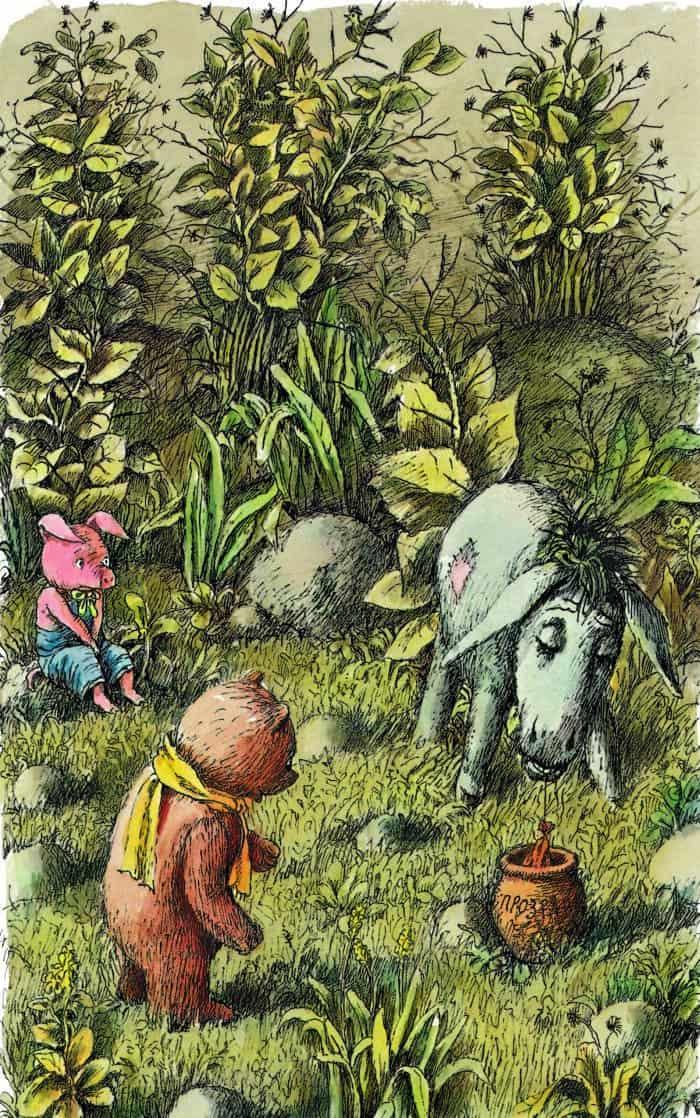 День рождения Иа-Иа. Иллюстрация ккниге А. Милна «Винни Пух ивсе-все-все». 1986