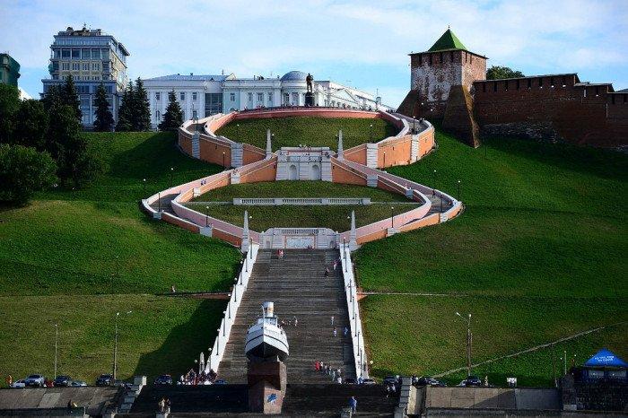 «Бесконечная» лестница flickr.com