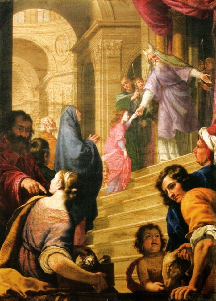 Альфонсо Боши. Введение Марии во храм. XVII век