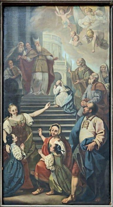 Бернардино Бернардино Лукаделло. Введение Богородицы во храм. Церковь Святого пророка Иеремии. Венеция