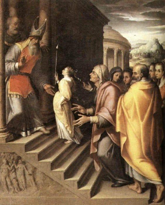 Денис Калверт. Введение Марии во храм. Вторая половина 16-го века