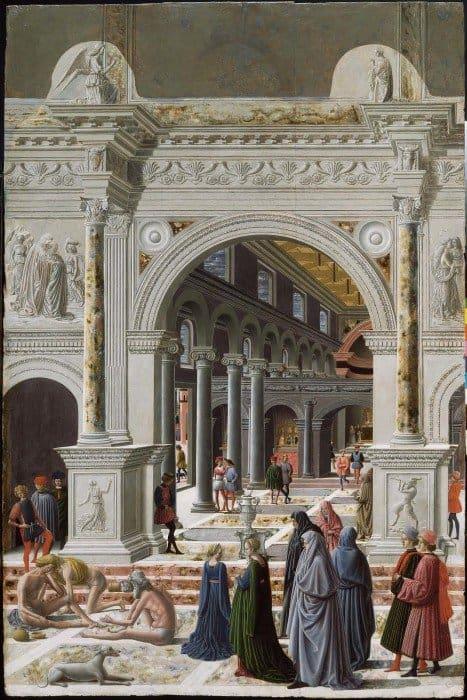 Фра Карневале. Введение Марии во храм. 1467