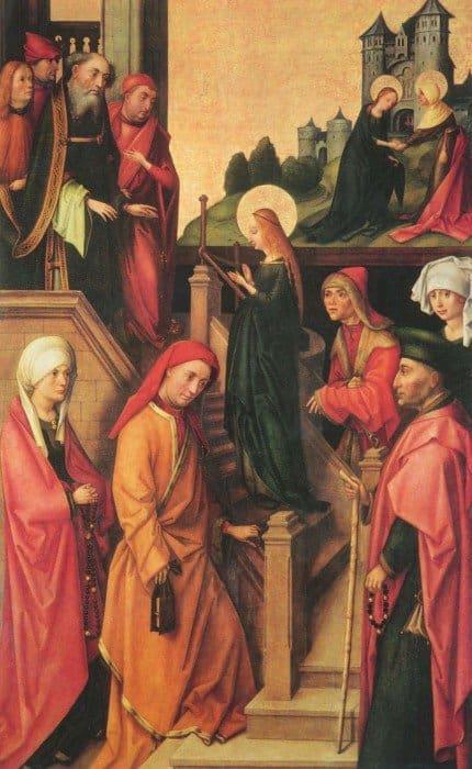 Ганс Гольбейн Старший. Введение Марии во храм. 1493