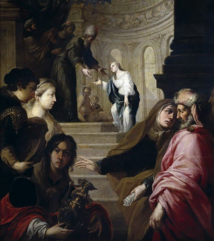 Хуан Ромеро. Введение Богородицы во храм.