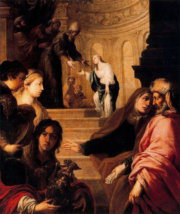 Хуан Ромеро. Введение Богородицы во храм. Вторая половина XVII века