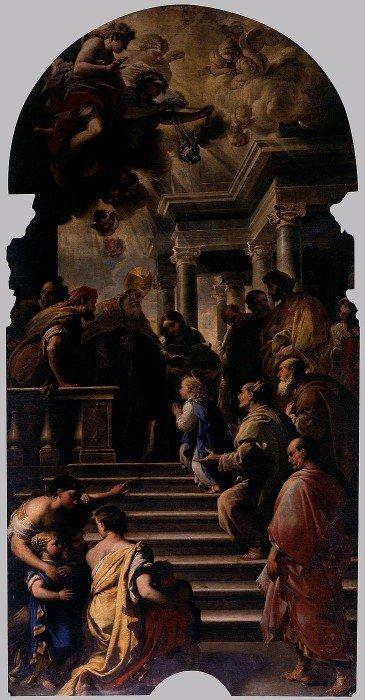 Лука Джордано. Введение Марии во храм. 1672-1674
