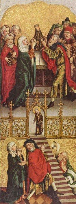 Мастер алтаря Реглера. Введение Марии во храм. 15 век. Мюнхен
