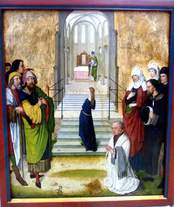 Мастер жития Марии из Кёльна. Введение Марии во храм. 1473