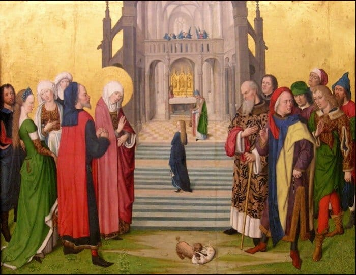 Мастер жития Марии. Введение Марии во храм. 1460-1465
