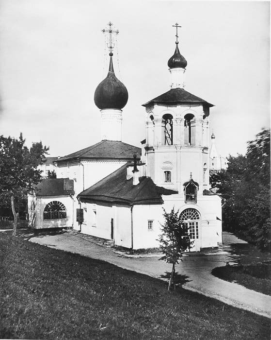 Малый храм равноапостольных Константина и Елены в Кремле. Фото XIX века.