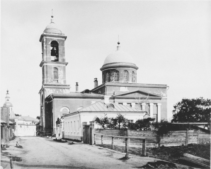 Храм Воскресения Словущего в Даниловской слободе. Фото XIX в