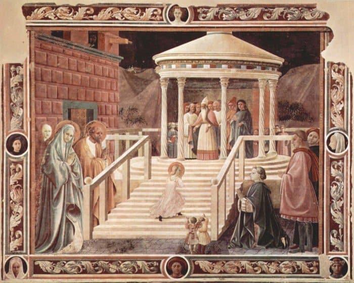Паоло Уччелло. Введение Марии во храм.1435-1440