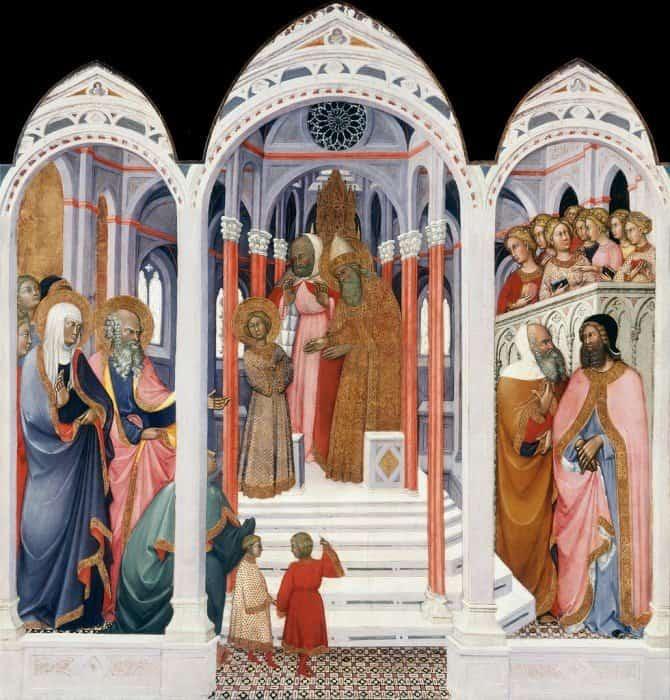 Паоло ди Джованни Феи. Введение Марии во храм. 1400 г.
