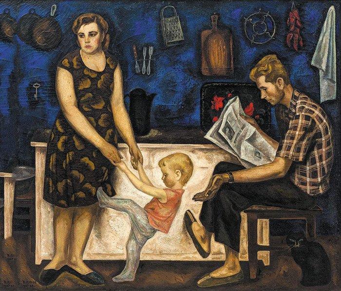 Семья Болотовых. Из цикла «Размышления о жизни». 1967–1968