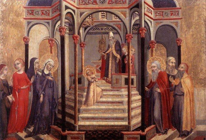 Сано ди Пьетро. Введение Марии во храм. 1448-1452