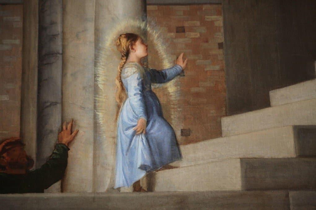 Тициан Вечеллио. Введение Марии в храм. 1485-1490. Деталь