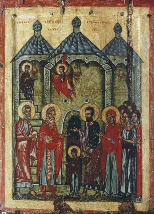 Введение Божией Матери во Храм Новгород, XIV в.