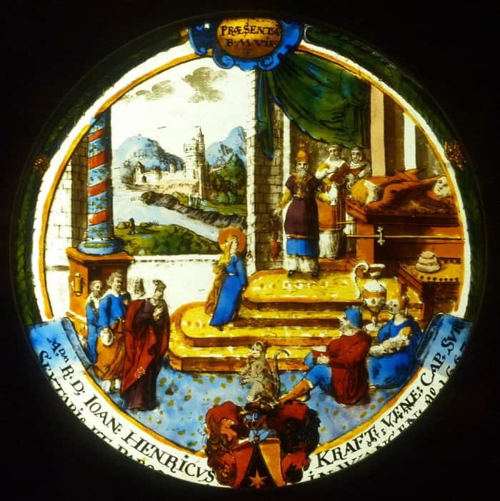 Введение Марии во храм. Герб Иоганна Генриха-Крафт, 1667. Лувр. Париж