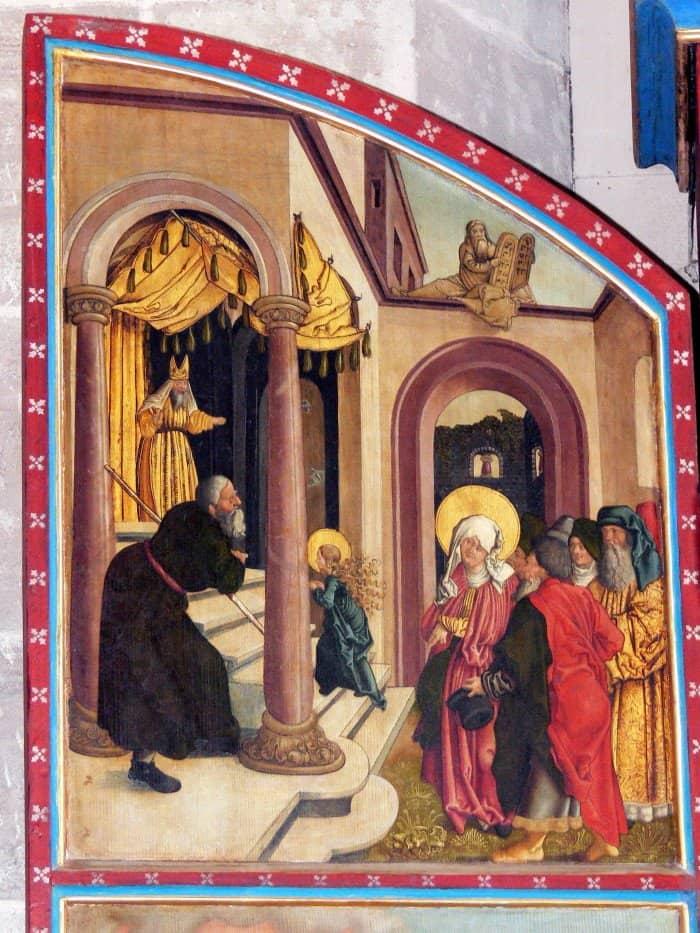 Введение Марии во храм. Храм монастыря Мюнстер Хайльсбронн. Алтарь. 1511