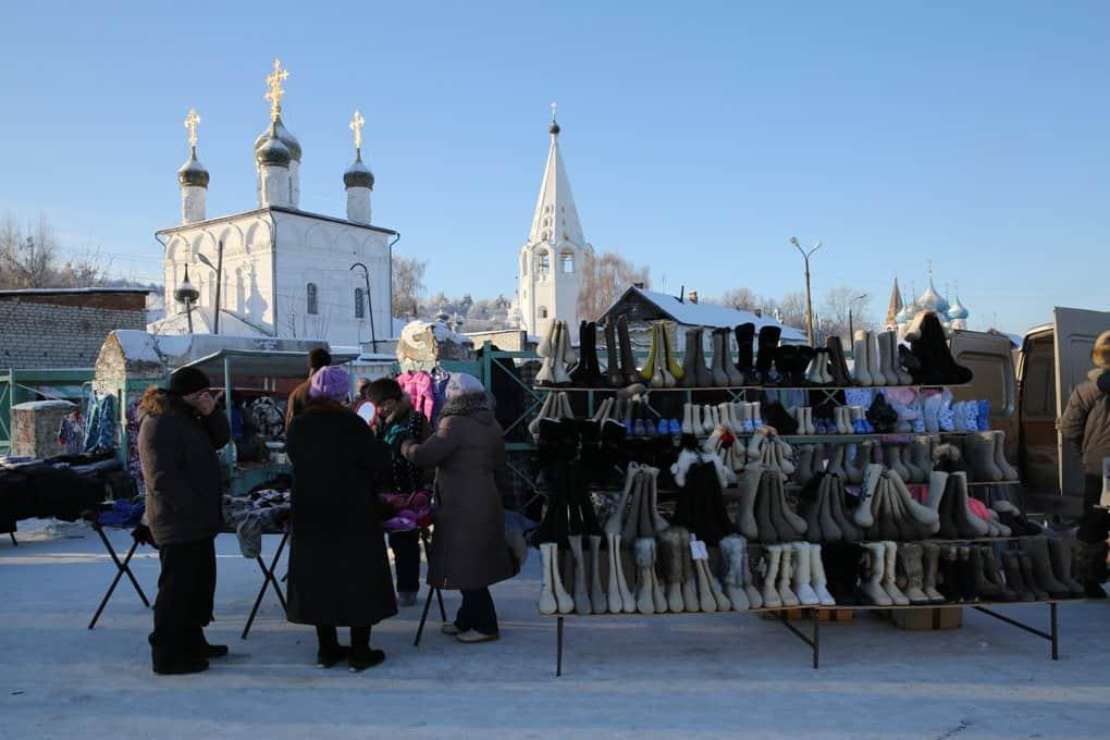 Базар вцентре Гороховца
