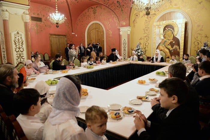 7 января. Встреча Святейшего Патриарха Кирилла с многодетными семьями в Храме Христа Спасителя