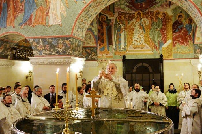 18 января. Патриаршее служение в Крещенский сочельник в Храме Христа Спасителя г. Москвы