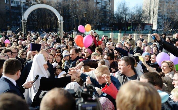 11 апреля. Традиционное посещение Святейшим Патриархом храмов Москвы в Великую субботу