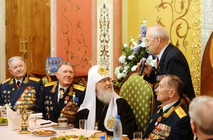 12 апреля. Встреча Святейшего Патриарха Кирилла с ветеранами Великой Отечественной войны