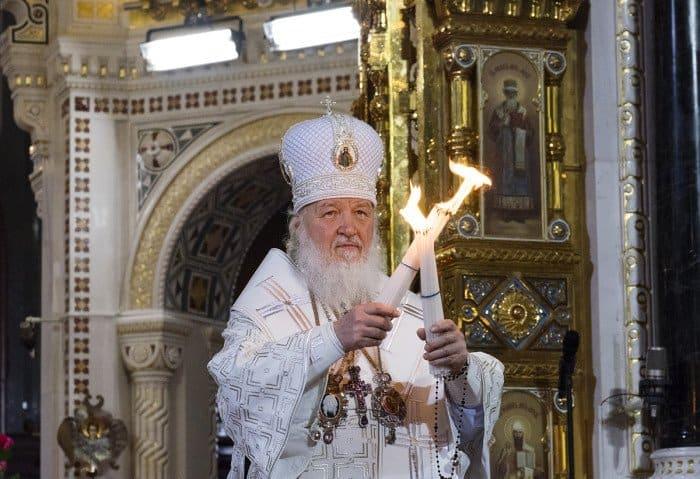 12 апреля. Патриаршее служение в праздник Светлого Христова Воскресения в Храме Христа Спасителя