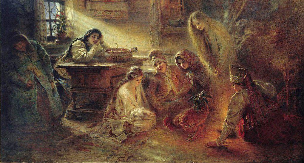Маковский К.Е. «Святочные гадания»